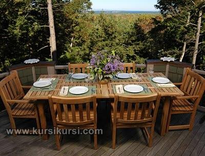 Furniture Set Kursi Santai Garden Kayu Jati Jepara