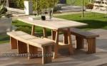 Garden Furniture Jepara Set Kursi Makan Kayu Jati Kode ( KKS 875 )