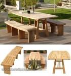 Garden Furniture Minimalis Jepara Bangku Set Taman Jati Kode ( KKS 876 )