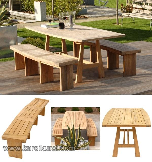Garden Furniture Minimalis Jepara Bangku Set Taman Jati
