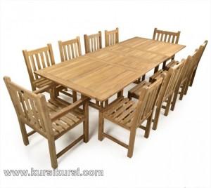 Garden Furniture Set Kursi Taman 8 Kursi Jati Solid