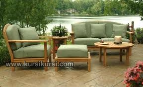 Garden Furniture Set Kursi Tamu Taman Kayu Jati