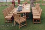 Kursi Taman Meeting Jepara Untuk 14 Kursi Jati Kode ( KKS 887 )