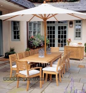 Kursi Taman Set Garden Furniture Kayu Jati dan Sofa Jepara