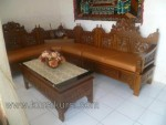 Kursi Tamu Set Sudut Ukir Mahkota Natural Furnishing Kode ( KKS 559 )