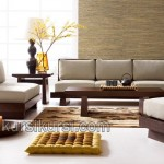 Living Room Minimalis Block Kayu Jati Solid