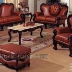 Maroon Sofa Set Kursi Tamu Jati