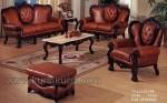 Maroon Sofa Set Kursi Tamu Jati Kode ( KKS 574 )