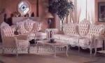 Mebel Asli Jepara Sofa Medan Duco Putih Kode ( KKS 576 )