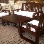 Minimalis Furniture Set Kursi Tamu Kayu Jati