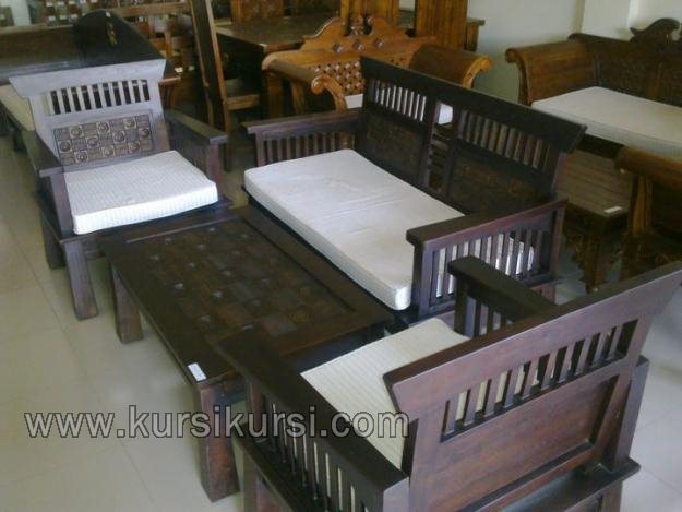 Model Set Kursi Tamu Minimalis Kawung