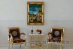 Modern Furniture Ukir Set Kursi Teras Emas Kode ( KKS 933 )