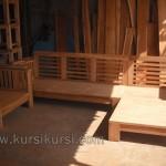 Produk Furniture Kursi Tamu Sudut Mentah Kayu Jati