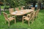 Set Kursi Makan Model di Taman Kayu Jati Kode ( KKS 898)