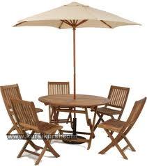 Set Kursi Meja Payung Taman 5 Kursi
