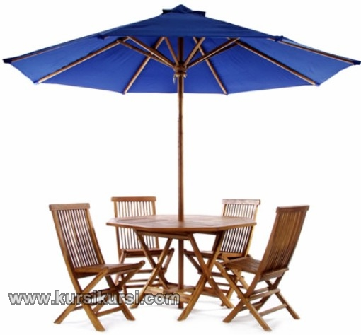 Set Kursi Taman Meja Payung Furniture Jepara