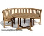 Set Kursi Taman Model Lengkung Jepara Kode ( KKS 908 )
