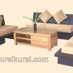 Set Kursi Tamu Minimalis Blok Kayu Jati Model Sofa
