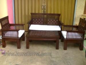 Set Kursi Tamu Minimalis Kawung Jati