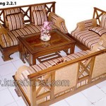 Set Kursi Tamu Minimalis Silang Furniture Jati