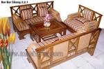 Set Kursi Tamu Minimalis Silang Furniture Jati Kode ( KKS 723 )