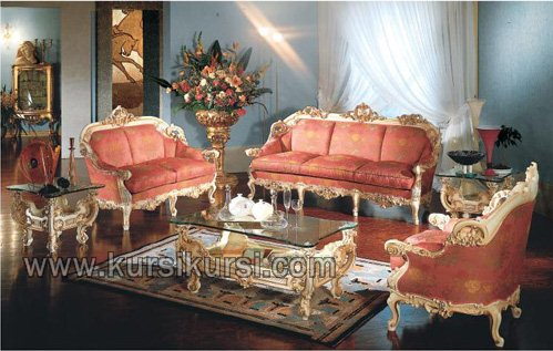 Set Kursi Tamu Ukiran Jepara Mercurio Furniture Kayu