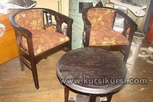 Set Kursi Teras Antik Model Kayu Jati