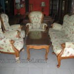 Set Sofa Tamu Meja Kayu Jati