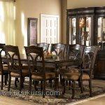 Dark Brown Furniture Set Kursi Makan Minimalis Klasik