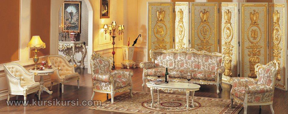 Desain Ruang Tamu Sofa Mewah Jepara