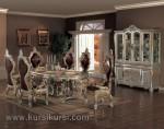 Dining Room Sofa Ukir Mewah dengan Bufet Besar Kode ( KKS 065 )