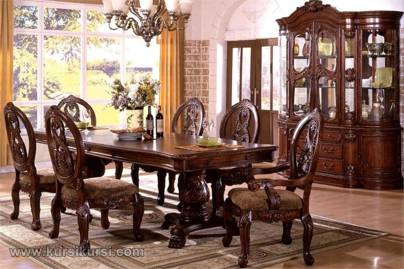 Furniture Antik Kursi Makan Salak Brown Mahoni
