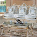 Furniture Duco Putih Set Sofa Tamu Ukir