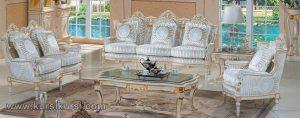 Furniture Duco Putih Set Sofa Tamu Ukir