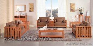 Furniture Kayu Modern Set Kursi Tamu Minimalis Jati