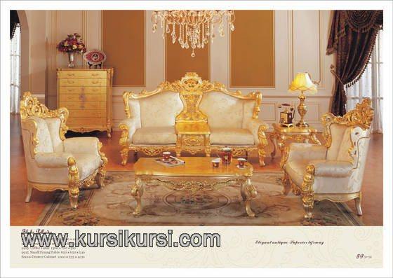 Furniture Klasik Mewah Ukiran Sofa Gaya Eropa