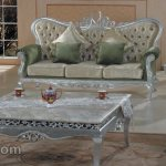 Furniture Kursi Silver Leave Cantik