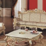 Furniture Mewah Kursi Set Duco Putih Tulang