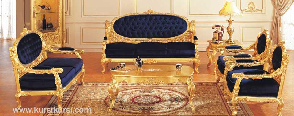 Furniture Mewah Kursi Tamu Ukir Klasik