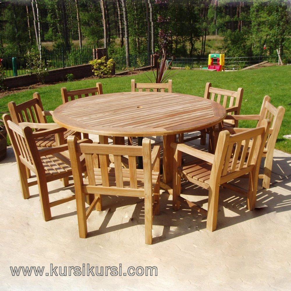 Garden furniture jati jepara set kode kks 082