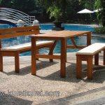 Kursi Kolam Renang Furniture Kayu