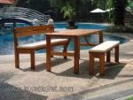 Kursi Kolam Renang Furniture Kayu Kode ( KKS 089 )