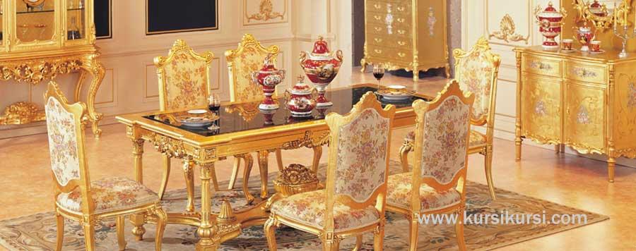 Mebel Duco Emas Kursi Makan Gold Cantik