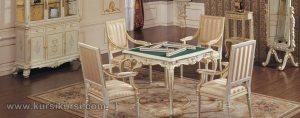 Meja Makan Kursi Set Model Klasik