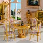 Ruang Makan Mewah Sederhana Finishing Gold