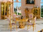 Ruang Makan Mewah Sederhana Finishing Gold Kode ( KKS 978 )