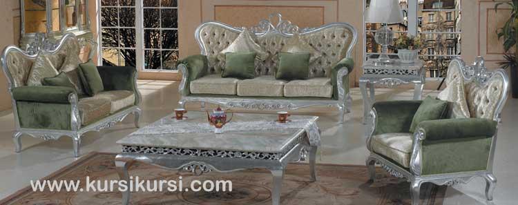Silver Leave Sofa Tamu Jepara