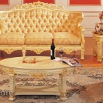 Sofa Mewah Kayu Mahoni Ukir Solid