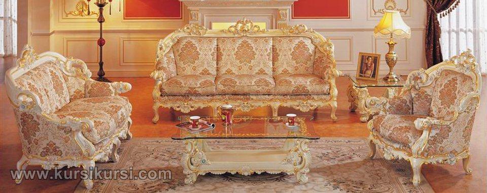 Sofa Ukiran Jepara Duco Putih