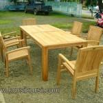 Stacking Set Kursi Jati Garden Furniture